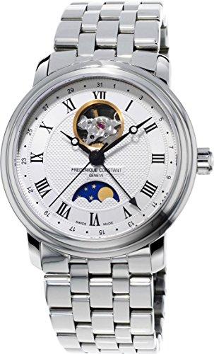 Frederique Constant Geneve Classics Moonphase FC-335MC4P6B2 Reloj Automático para hombres Volante Abierta
