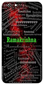 Ramakrishna (Rama & Krishna) Name & Sign Printed All over customize & Personalized!! Protective back cover for your Smart Phone : Moto X-STYLE