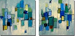 Bayside I & II by Lanie Loreth 2-pc Premium Oversize Gallery Wrapped Canvas Giclee Art Set (Ready to Hang)
