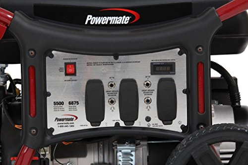 Powermate PM0145500 Generator with Manual Start, 5500-watt