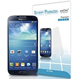 Galaxy S4 Screen Protector, amFilm® Premium HD Clear (Invisible) Screen Protector for Samsung Galaxy S4 IV (3-Pack) [Lifetime Warranty]