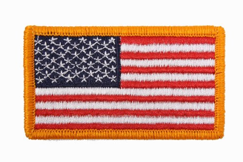 Best Prices! USA American US Regular Flag Patch with Velcro Closure (1 7/8'' x 3 3/8'')