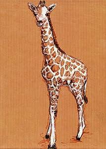 "Oopsy Daisy Canvas Wall Art, Giraffe Baby, 14"" x 18"""