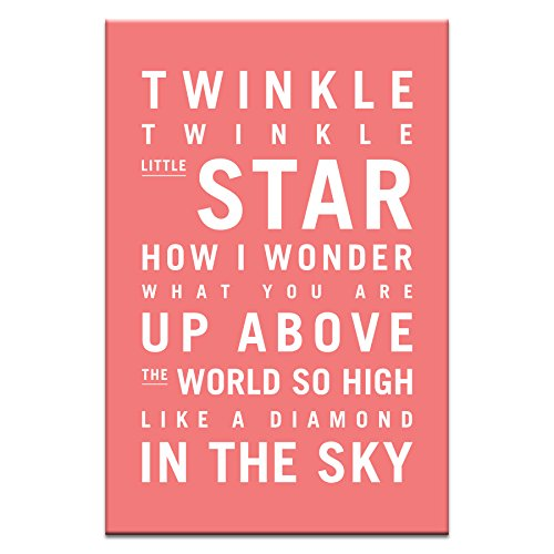 Artist Lane 08TV - P2633 Twinkle, Twinkle Little Star Canvas Artwork by Nursery Art, 12 by 18 by 1.5-Inch
