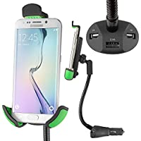Pocketvolt Universal Flexible Arm Car Mount Holder - Black/Green