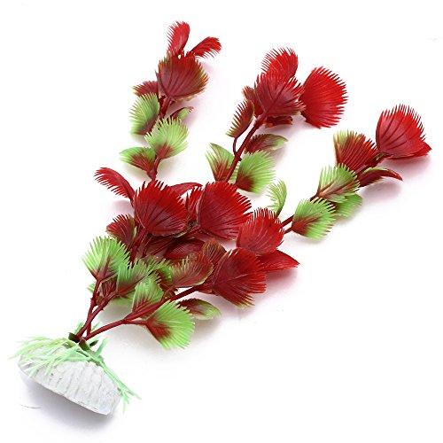 Facilla plante artificielle rouge vert en plastique for Poisson rouge plastique