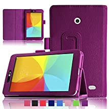 Infiland Folio PU Leather Case Smart Fit Cover For LG G PAD 7.0 V400 & LTE V410 Tablet (LG G PAD 7.0 V400 Purple)