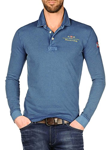 Napapijri ELBAS Long Sleeve Polo Shirt M Potenza