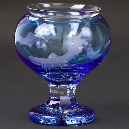 Godinger SALMON CAVIAR DISH LIGHT BLUE