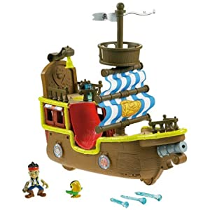 Fisher-Price Disney's Jake and The Neverland Pirates - Jake's Musical Pirate Ship Bucky