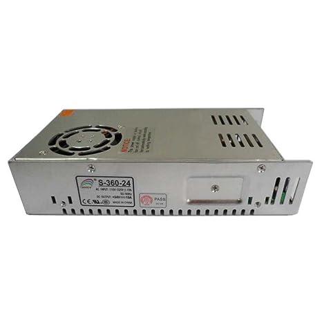 Smarstar AC110-220V à DC24V 15A 360W Conducteur d'alimentation électrique Driver pour CCTV LED Bande de lumière