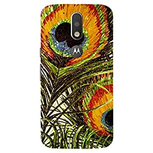 Peacock Wing - Mobile Back Case Cover For MOTOROLA MOTO G4 PLUS