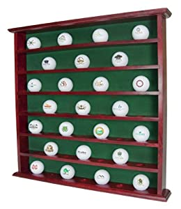Golf Gifts & Gallery Mahogany 49-Ball Cabinet by Golf Gifts & Gallery