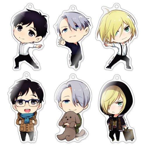 きゃらふぉるむ ユーリ!!!on ICE アクリルストラップコレクション BOX商品 1BOX = 6個入り、全6種類