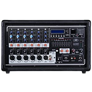 peavey pvi 6500 powered mixer 400w 6 channel with 6 inputs and fx w 2 mics and. Black Bedroom Furniture Sets. Home Design Ideas