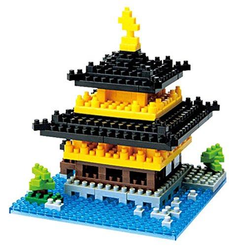 2 Different Nanoblock Sets - London Tower Bridge and Kinkaku-ji Temple of the Golden Pavilion in Japan