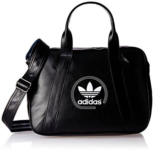 adidas Leather 17.7 Lts Black Shoulder Bag (4056559438708)