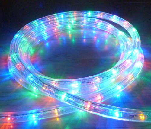 32 METRE MULTICOLOUR LED ROPE LIGHT 1152 LEDS WITH 8 FUNCTION CONTROLLER ** WEDDINGS CHRISTMAS BARS GARDENS ** HIGH QUALITY ROPE LIGHTS **