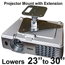 Projector-Gear Projector Ceiling Mount for OPTOMA W415e with Extension Lowers 23\