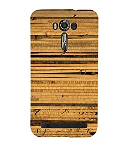 Bamboo Texture Cute Fashion 3D Hard Polycarbonate Designer Back Case Cover for Asus Zenfone 2 Laser ZE500KL (5 INCHES)