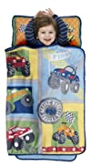 Baby Boom Monster Trucks Nap Mat Blue