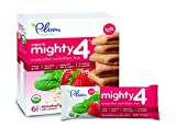 Plum Organics Mighty 4 Essential Nutrition Bars Strawberry with Spinach, 6 Count (Pack of 8)