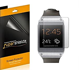 [6-Pack] SUPERSHIELDZ- High Definition Clear Screen Protector Shield For Samsung Galaxy Gear Smartwatch + Lifetime Replacements Warranty [6 Pack] - Retail Packaging