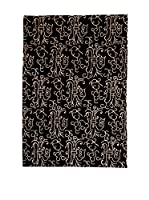 CarpeTrade Alfombra Soft Nepal (Negro/Beige)