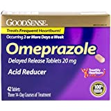 GoodSense Omeprazole Delayed Release, Acid Reducer Tablets 20 mg, 42 Count
