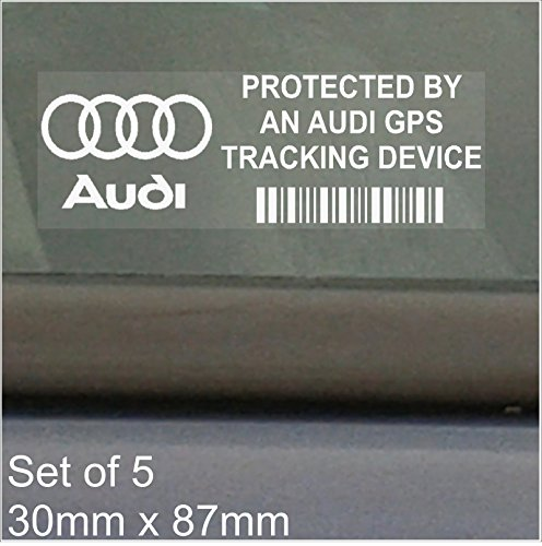 9f6f994059 Cheap 5 x AUDI GPS Tracking Device Security WINDOW Stickers 87x30mm ...