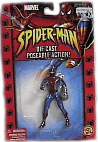 Spider-Man with Web Glove Diecast Figure - 1