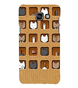 FUSON Cute Pattern Back Case Cover for Samsung Galaxy A7(2016)