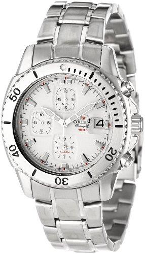 Orient Herren CTD0B001W 100m Alarm-Chronograph mit Magnified Objektiv über ein Datum, weiss Uhr