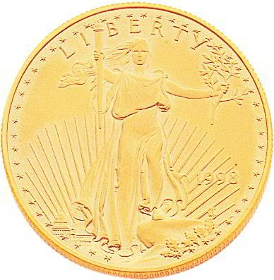 22K Yellow Gold 1oz American Eagle Coin Jewelry New