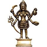 Collectible Figurines Hindu Religious Brass Sculpture of Goddess Kali ~ ShalinIndia