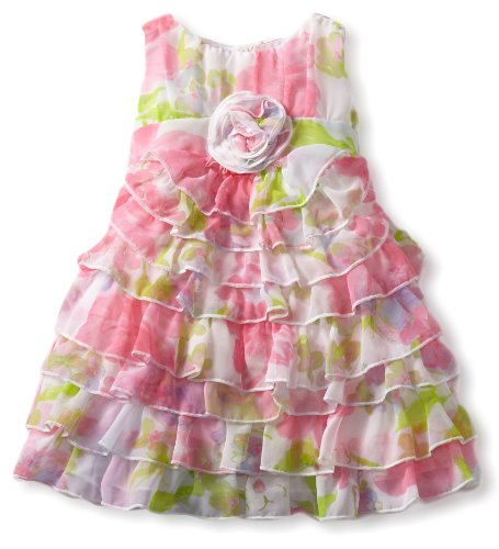 Hot Deal Biscotti Baby-Girls Infant Garden Path Tier Dress, Pink, 18 Months  Best Offer