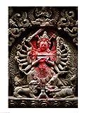 Statue of a goddess, Kathmandu, Nepal Fine Art Print (45.72 x 60.96 cm)