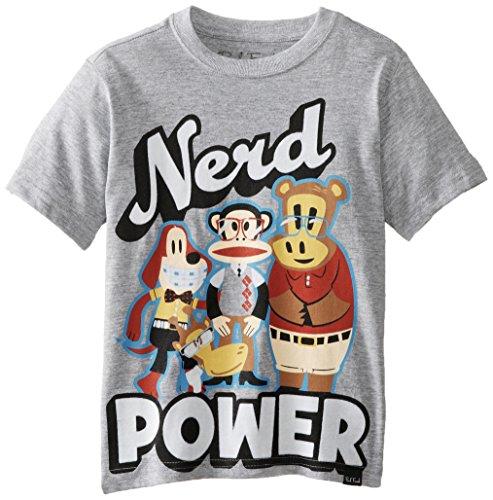 Paul Frank Little Boys' Nerd Power Tee, Grey Heather, 7 front-901363