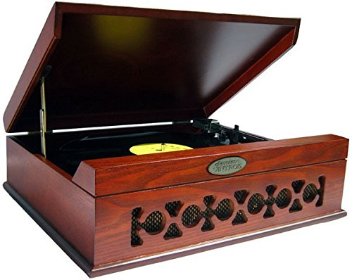 Pyle Home PVNTT6UMR Vintage Style Phonograph/Turntable with USB-To-PC Connection (Mahogany) 0