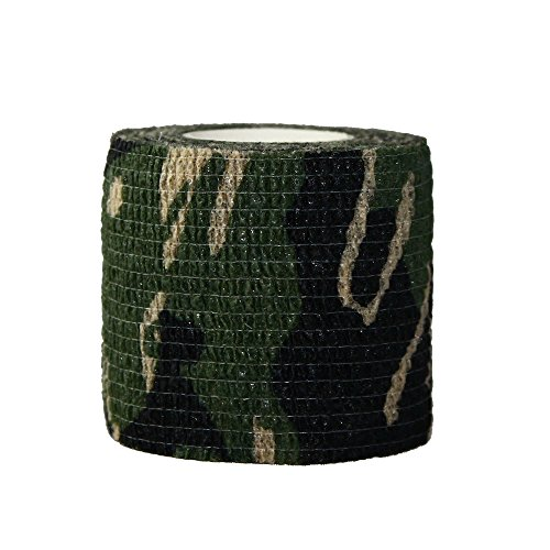 3 Rolls Outdoor Military Telescopic Camouflage Tape for Hunting Gun Accessories Cycling Tool Protective Camouflage Camo Fabric Wrap-06