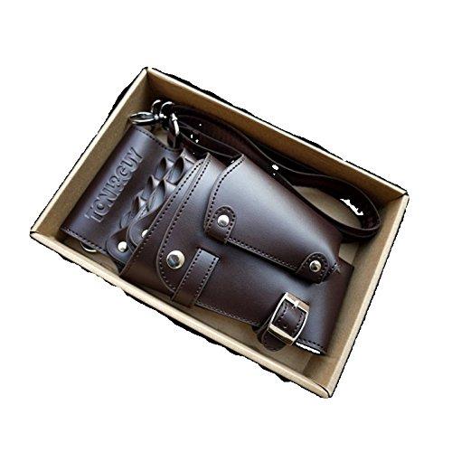 理美容シザーケース本格派の5丁格納美容師プロ仕様・トリマー 専用クシ付き