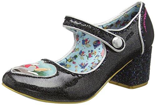 Irregular ChoiceTick Tock - Scarpe con Tacco donna, colore nero (black), taglia 38 EU, 5 UK)