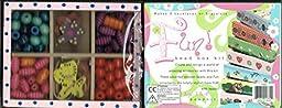 Bead Bazaar Small Bead Kit in Hand Painted Wooden Box - Fun