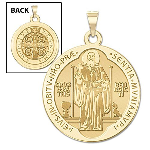 Saint-Benedict-Religious-Medal-Available-in-Solid-10K-And14K-Yellow-or-White-Gold-or-Sterling-Silver