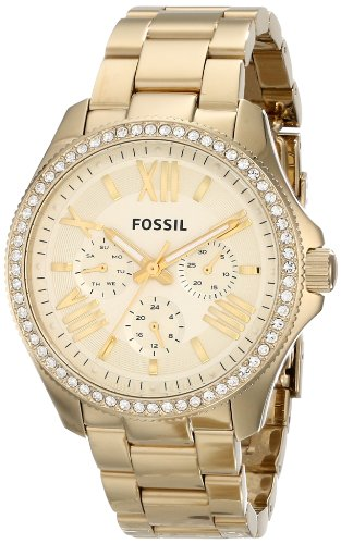 Fossil Women's Quartz Watch Retro Traveler AM4482 with Metal Strap