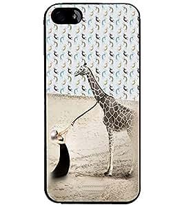 PrintDhaba Giraffe D-4944 Back Case Cover for APPLE IPHONE 5 (Multi-Coloured)