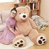 MorisMos Big Plush Giant Teddy Bear Premium Soft Stuffed Animals Light Brown (51 Inch) (Tamaño: 51 Inch)