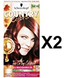 Schwarzkopf Country Colors Hair Dye Colours Col58 Grand Canyon Copper RedX 2 Packs