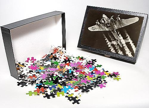 Photo Jigsaw Puzzle of A Boeing B-17G Flying Fortress prepares to drop its bombload