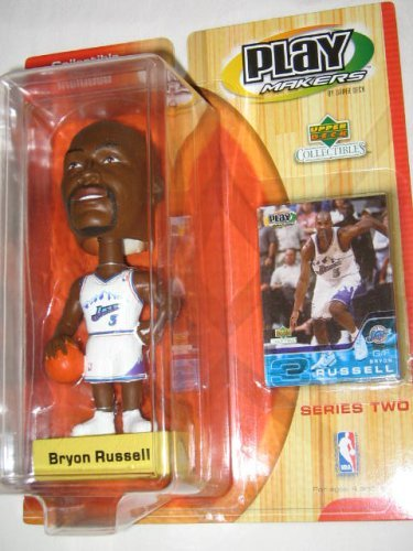 Bryon Russell Play Makers Bobble Head Series Two Jazz - 1